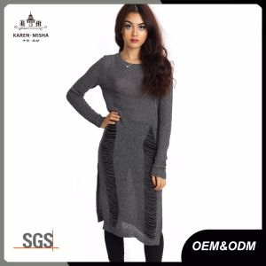 Women Distressed Knit Summer Tunic Sweater pictures & photos