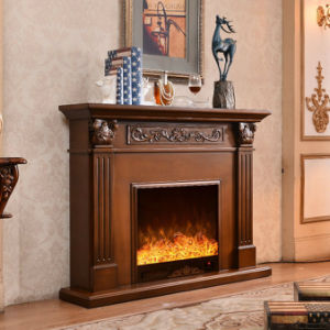 Hotel Furniture Wood Flame Electric Fireplace (321B) pictures & photos