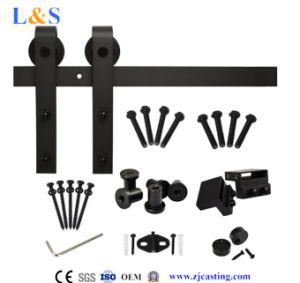 Black Wood Sliding Door Hardware (LS-SDU 020) pictures & photos