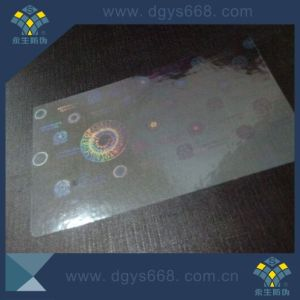 Transparent Self Adhesive Hologram Sticker for Card pictures & photos