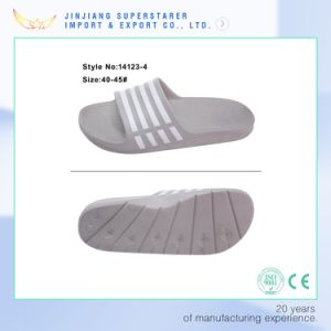 EVA Men Gray Open Toe Simple Bath Slipper pictures & photos