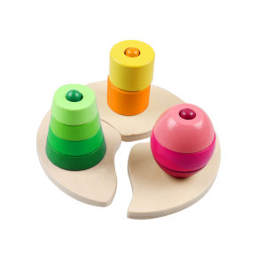 Wooden Triple Stacking Block Toy for Kids and Children pictures & photos