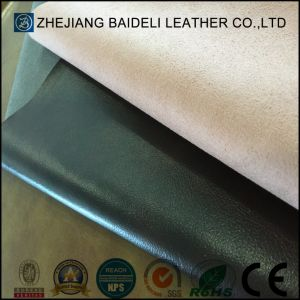 Hot Design PVC Leather for Furniture Upholstery with Microfiber Backing pictures & photos