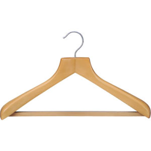 Wooden Shirt Coat Hanger with Anti-Slip Rubber Teeth pictures & photos