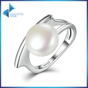 New Collection 100% 925 Sterling Silver Freshwater Cultured Pearl Rings for Women Wedding Jewelry pictures & photos
