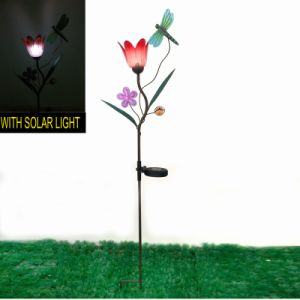 Garden Decoration Metal Solar Lighted Butterfly Stake pictures & photos