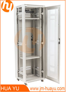 Glass Door Telecommunication Cabinet/Enclosure From Height 14u to 42u pictures & photos