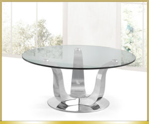 Glass Top Stainless Steel Coffee Table pictures & photos