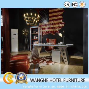 Creative Modern Silver Metal Writing Table for Office pictures & photos