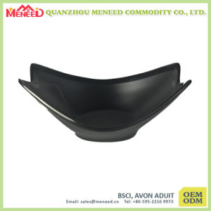 Japanese Matt Black Melamine Serving Bowl pictures & photos
