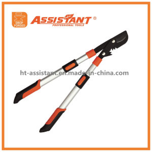 Telescopic Extendable Aluminum Handle Pruning Shears Drop Forged Bypass Lopper pictures & photos