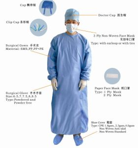 High Risk Reinforced Surgical Gown by Eo Sterilized pictures & photos