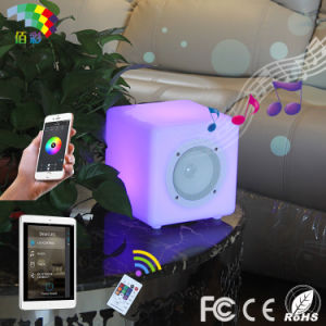 20*20*20cm Remote Control Bluetooth Speaker LED Light