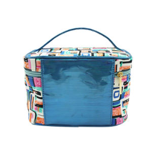 Simple Style Cosmetic Bag with PU Handle pictures & photos