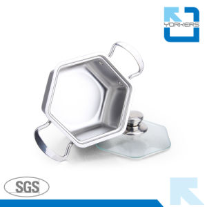 304 Stainless Steel Hexagon Shape Stock Pot Wholesale pictures & photos