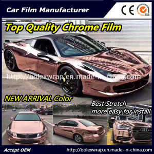 New Arrival Color! ! ! Top Quality Glossy Chrome Smart Car Vinyl Wrap Vinyl Film pictures & photos