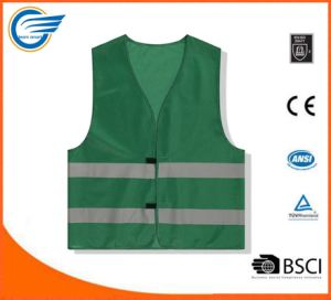 Two Horizontal Strip High Visibility Reflective Warning Jacket pictures & photos