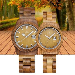 Fashion Mens Bamboo Wood Watch Quartz Wooden Watch Auto Date Man Watch 72363 pictures & photos