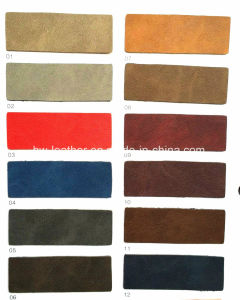 Soft Synthetic PU Leather for Shoes Boots Bags Making Hx-S1709 pictures & photos