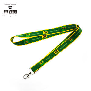 Green Lanyard with Heat Transfer Printing for Schools pictures & photos