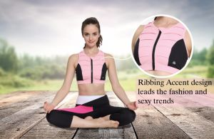 Wholesale Custom Fashion New Ladies Sexy Supportive Front Zip Sports Bra pictures & photos