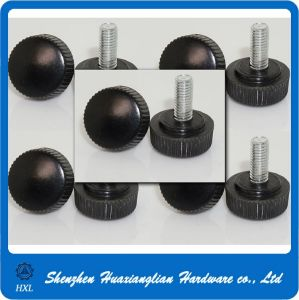 Black ABS Knurled Head Steel Zinc Plating Thumb Screw pictures & photos