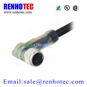 Right Angle Electrical Circular Socket and Plug 2/3/4/5/6 Pin Sensorm8 Connector pictures & photos
