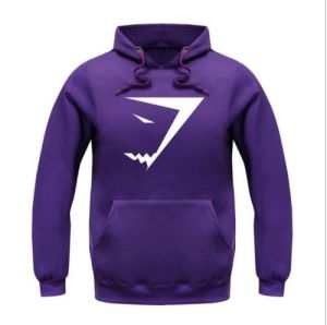 Mens Cotton Shark Logo Purple Printed Hooded Sweatshirt (A591) pictures & photos
