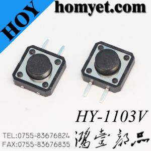 12*12 Right Angle 2pin DIP Push Button Tact Switch pictures & photos