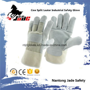 Gray Industrial Safety Cowhide Split Leather Hand Work Glove pictures & photos