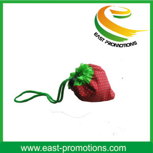 Reusable Nylon Foldable Strawberry Shaped Shopping Bag pictures & photos