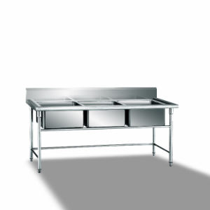 Stainless Steel 3-Sink Workbench pictures & photos
