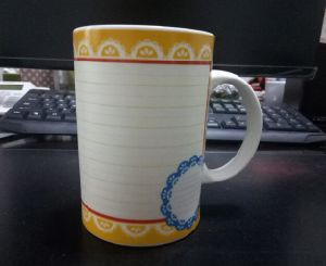 16oz Ceramic Mug Wtih Decal Can Be Written on It Wholesale pictures & photos