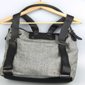 Multi Fountion Canvas Handbag Ladies Canvas Backpack Fashion Accessory Supplier pictures & photos