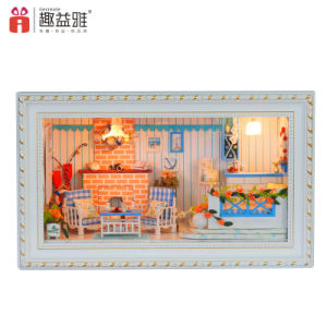 2017 New Arrival Wooden Mini Doll House pictures & photos