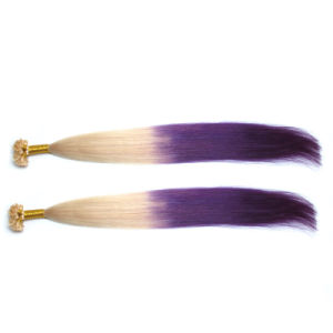 Double Drawn Indian Human Remy Hair Flat Tip Hair Extension pictures & photos