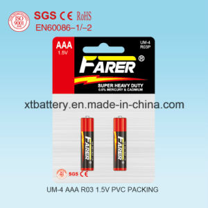 1.5V Farer Super Heavy Duty Dry Battery (R03 AAA, Um-4) pictures & photos