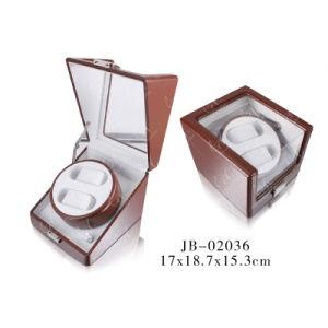 Luxury PU Leather Automatic Roation Mabuchi Motor Single Watch Winder pictures & photos