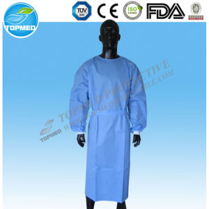 SMS/PP+PE Waterproof Isolation Gown, Elastic/Knitted Cuff pictures & photos