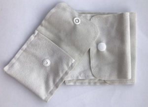 Wholesale Fashion Cream Various Function Double-Side Suede Clamshell Bag with Button