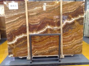 High-Grade Tiger Yellow Onyx Marble Tile pictures & photos