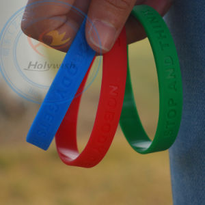 Free Design Custom Colorful Silicone Wristbands for Wedding Party