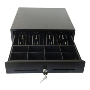 Manual Push Open Mini Size 3-Position Lock 4 Bill Tray Cash Drawer pictures & photos