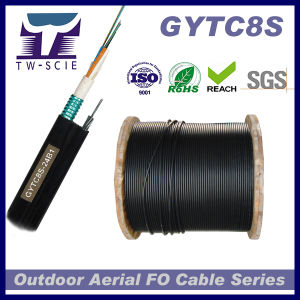 48f Optic Fiber Aerial Cable Singlemode Self-Surporting GYTC8S pictures & photos