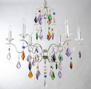 Modern Colorful Attractive Chrome Crystal Chandelier pictures & photos