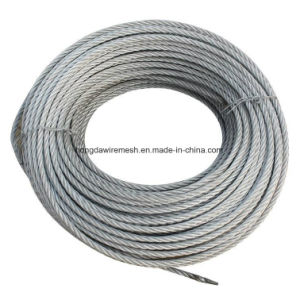 Ungalvanized Steel Cable 7X7 7X19 Steel Wire Rope/Galvanized Steel Wire Ropes 7*7 for Auto Cables (XM040) pictures & photos