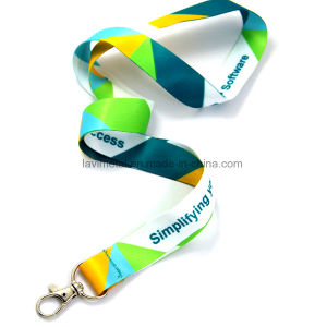 Custom Printing Simplifying Polyester Nylon Lanyard with Dog Hook pictures & photos