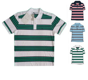 Men′s Yarn Dyed Polo Shirt Cotton Embroidery pictures & photos