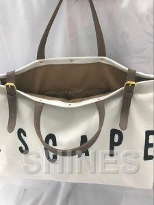White Linen Women Bag pictures & photos