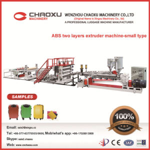 Smaller Type ABS Two-Layers Plastic Sheet Plate Extrusion Production Line Machine pictures & photos
